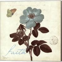 Framed Touch of Blue II- Faith