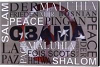 Framed Obama Peace