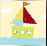 Framed Sailboat Adventure IV