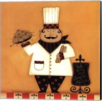 Framed Chef with Spaghetti