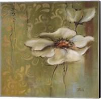 Framed Green Flowers II