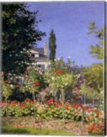 Framed Flowering Garden at Sainte-Adresse, c.1866