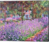 Framed Artist's Garden at Giverny, 1900