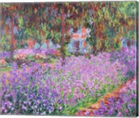 Framed Artist's Garden at Giverny, 1900