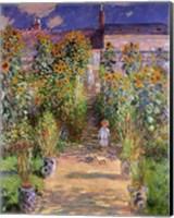 Framed Artist's Garden at Vetheuil, 1880