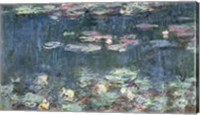 Framed Waterlilies: Green Reflections, 1914-18 (detail)