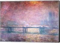 Framed Thames at Charing Cross, 1903