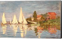 Framed Regatta at Argenteuil, c.1872