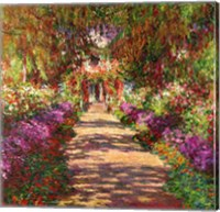 Framed Pathway in Monet's Garden, Giverny, 1902