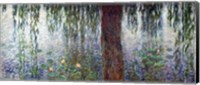 Framed Waterlilies: Morning with Weeping Willows, detail of the left section, 1915-26