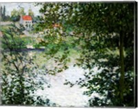 Framed Ile de La Grande Jatte Through the Trees, 1878