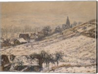 Framed Winter in Giverny, 1885