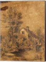 Framed La Lezarde shores, 1856