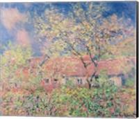 Framed Springtime at Giverny, c.1880