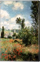 Framed Path through the Poppies, Ile Saint-Martin, Vetheuil, 1880