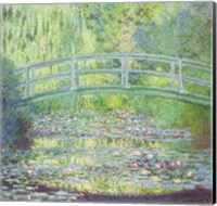 Framed Waterlily Pond with the Japanese Bridge, 1899