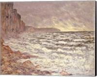 Framed Sea at Fecamp, 1881