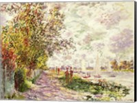Framed Riverbank at Gennevilliers, c.1875