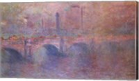Framed Thames at Waterloo Bridge, 1903