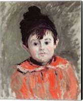 Framed Michel Monet Wearing a Bobble Hat