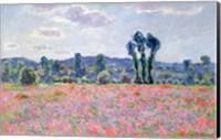 Framed Poppy Field, 1887