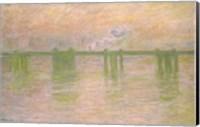 Framed Charing Cross Bridge