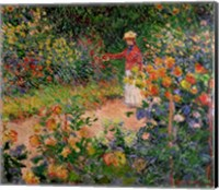 Framed Garden at Giverny, 1895
