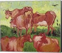 Framed Cows, 1890