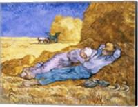 Framed Noon, or The Siesta, after Millet, 1890