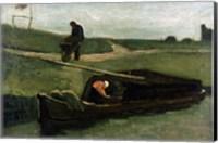 Framed Peat Boat, 1883