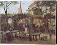 Framed Pleasure Gardens at Montmartre, 1886
