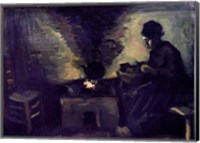 Framed Peasant Woman by the Hearth, c.1885