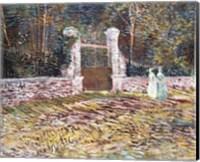 Framed Entrance to the Voyer-d'Argenson Park at Asnieres