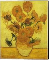 Framed Sunflowers, 1889