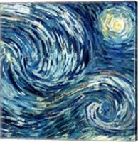 Framed Starry Night, June 1889 Detail B