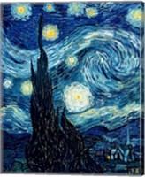 Framed Starry Night, June 1889 Detail A