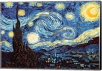 Framed Starry Night, June 1889