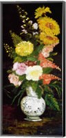 Framed Vase of Flowers, 1886