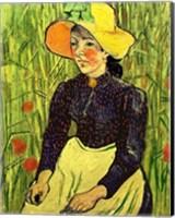 Framed Portrait of Einer Jungen Bauerin