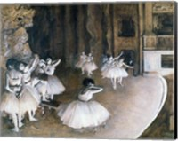 Framed Ballet Rehearsal on the Stage, 1874