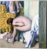 Framed After the Bath, Woman Drying her Left Foot, 1886