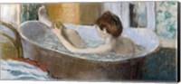 Framed Woman in her Bath, Sponging her Leg, c.1883