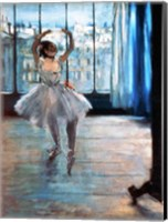 Framed Dancer in Front of a Window