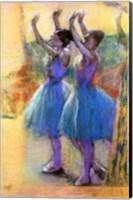 Framed Two Blue Dancers