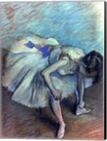 Framed Seated Dancer - bent over