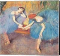 Framed Two Dancers at Rest