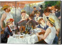 Framed Luncheon of the Boating Party, 1881