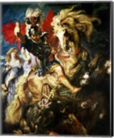 Framed St. George and the Dragon, c.1606