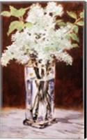 Framed White Lilac in a Crystal Vase, 1882