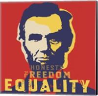 Framed Abraham Lincoln:  Honesty, Freedom, Equality